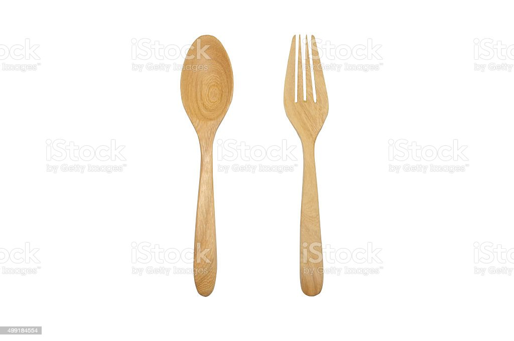 Wooden spoon and folk stock photo