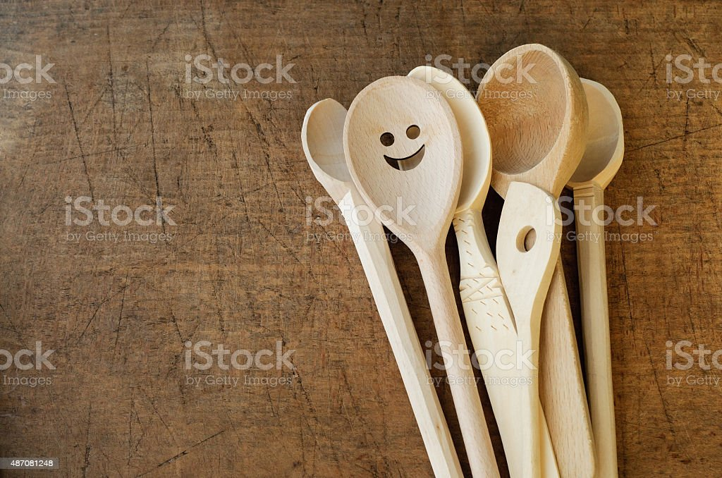 Wooden Spoon Collection stock photo
