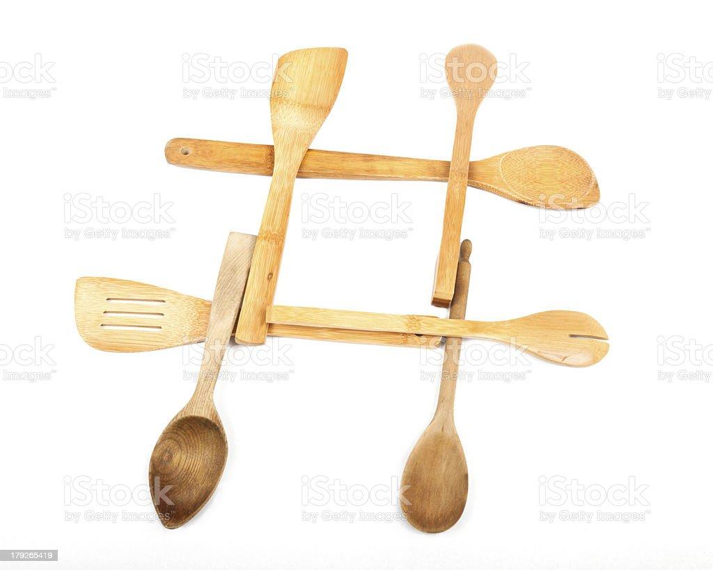 Wooden Spoon Hashtag royalty-free stock photo