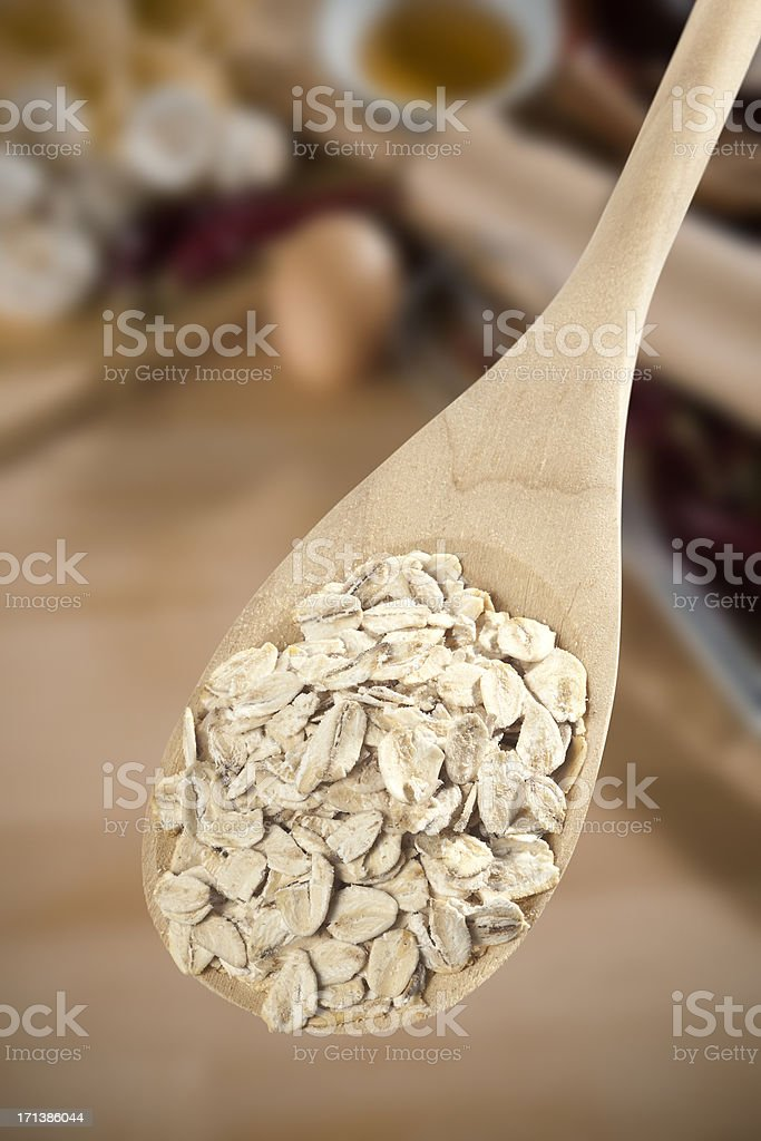 Wooden spoon royalty-free stock photo