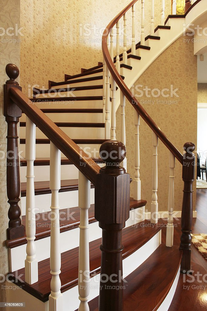 Wooden Stair royalty-free stock photo