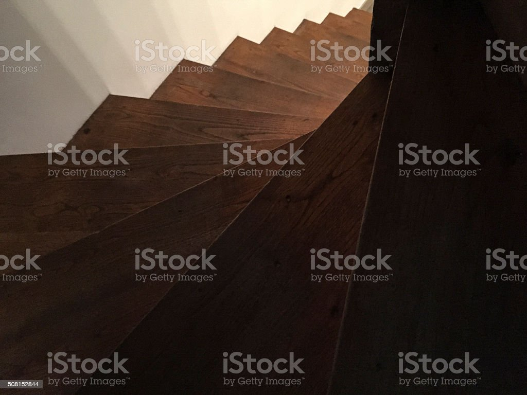 wooden staircase background stock photo