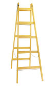 Wooden step ladder isolated