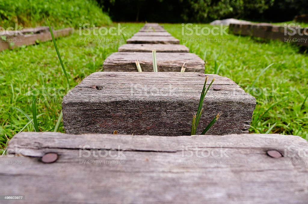 Wooden steps stock photo