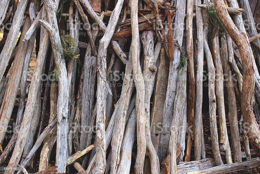 Wooden sticks stock photo