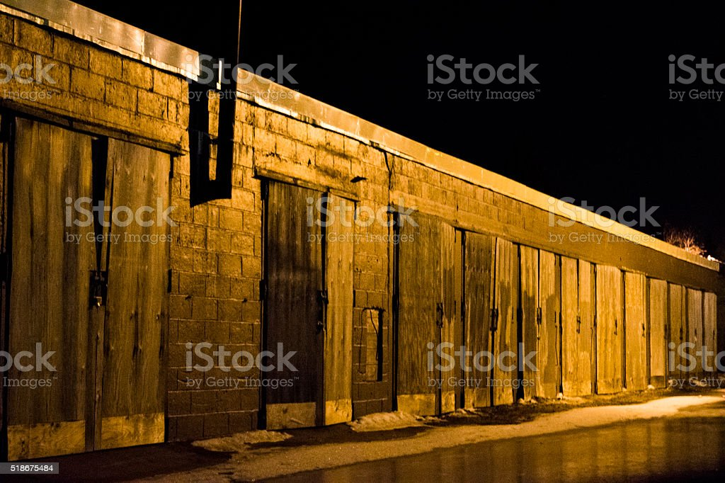Wooden Storage Doors royalty-free stock photo