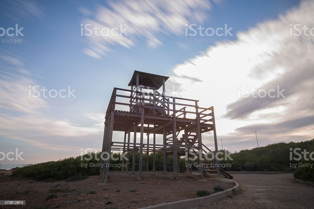 Wooden structure. stock photo