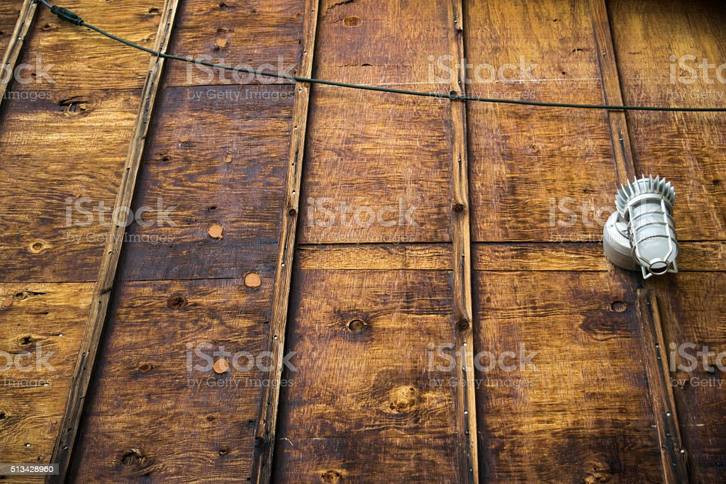wooden structure with light royalty-free stock photo