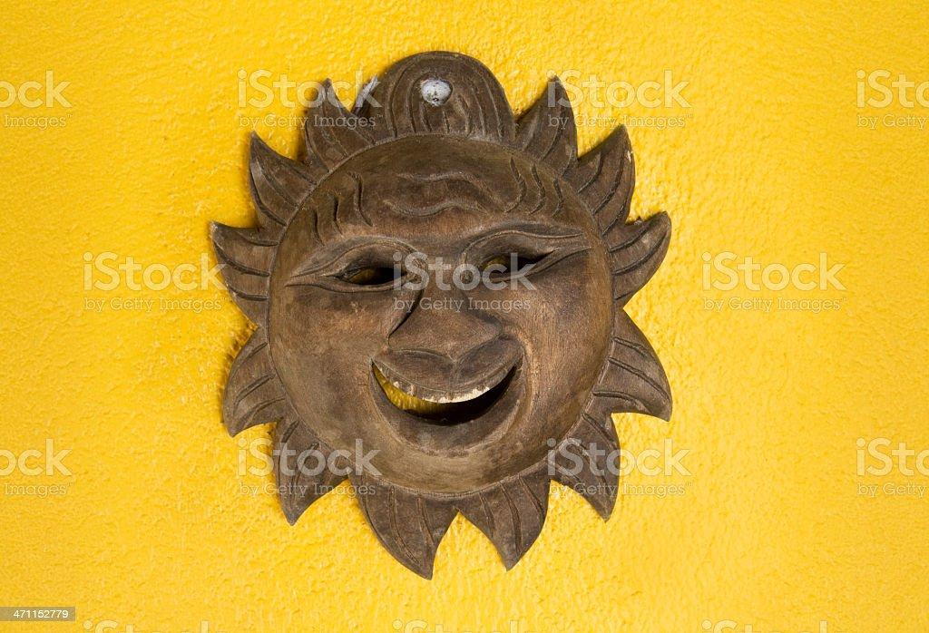 Wooden sun royalty-free stock photo