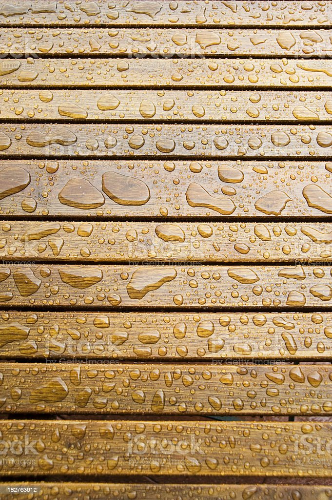 wooden surface protected with transparent varnish stock photo