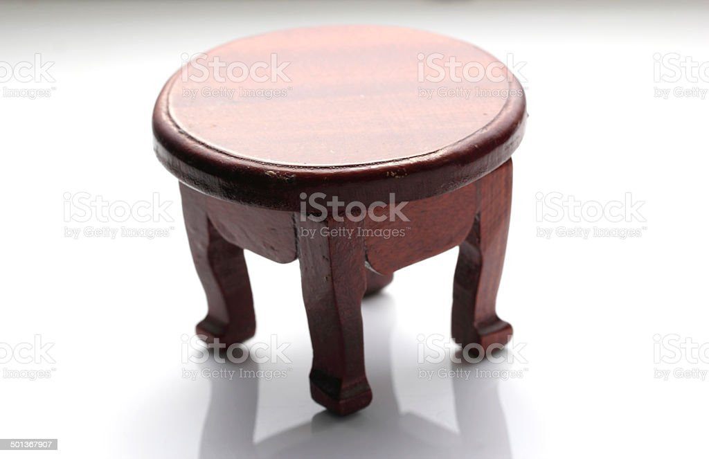 Wooden table in White background royalty-free stock photo