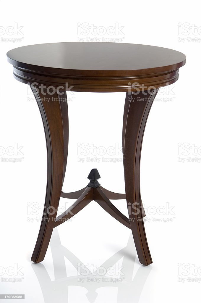 Wooden Table (Isolated) stock photo