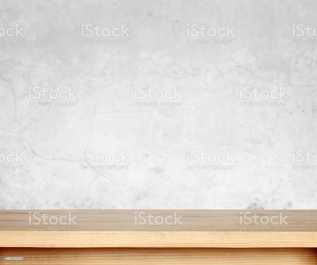 Wooden table stock photo