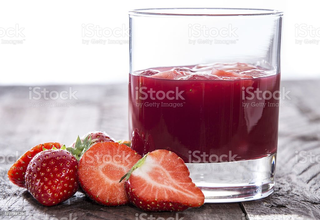 Wooden Table with Alcoholic Beverage stock photo