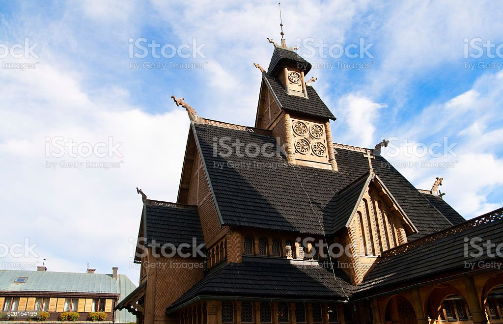 Wooden temple stock photo