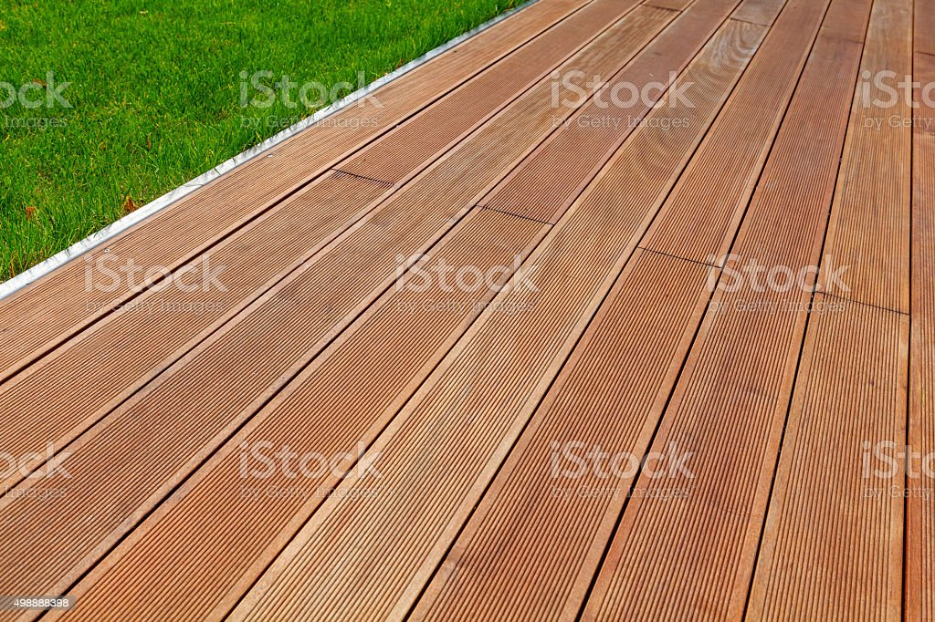 Wooden terrace stock photo