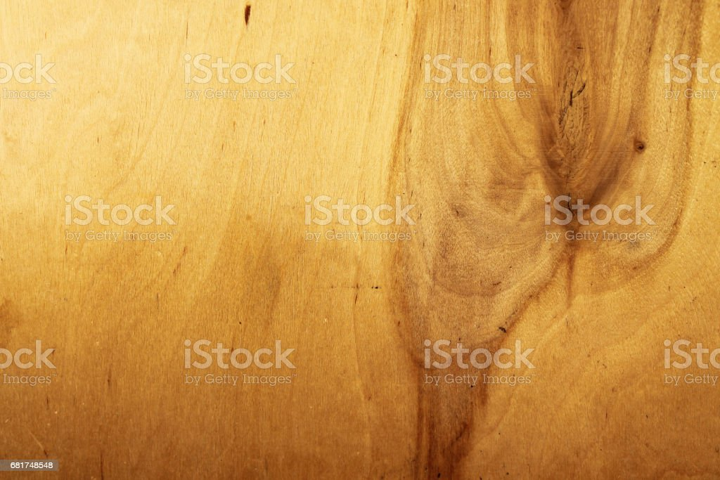 Wooden texture, blank wooden background. On the right - a natural strong divorce on the trunk of the trunk stock photo