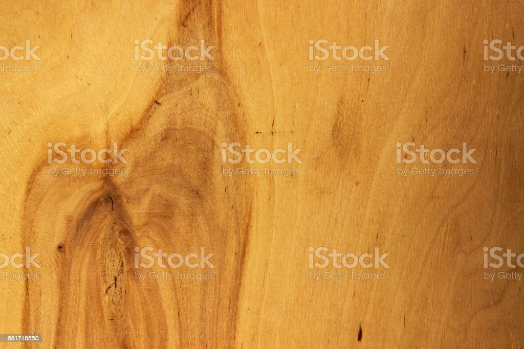 Wooden texture, blank wooden background. On the right - a natural strong divorce on the trunk of the trunk. Wood texture stock photo