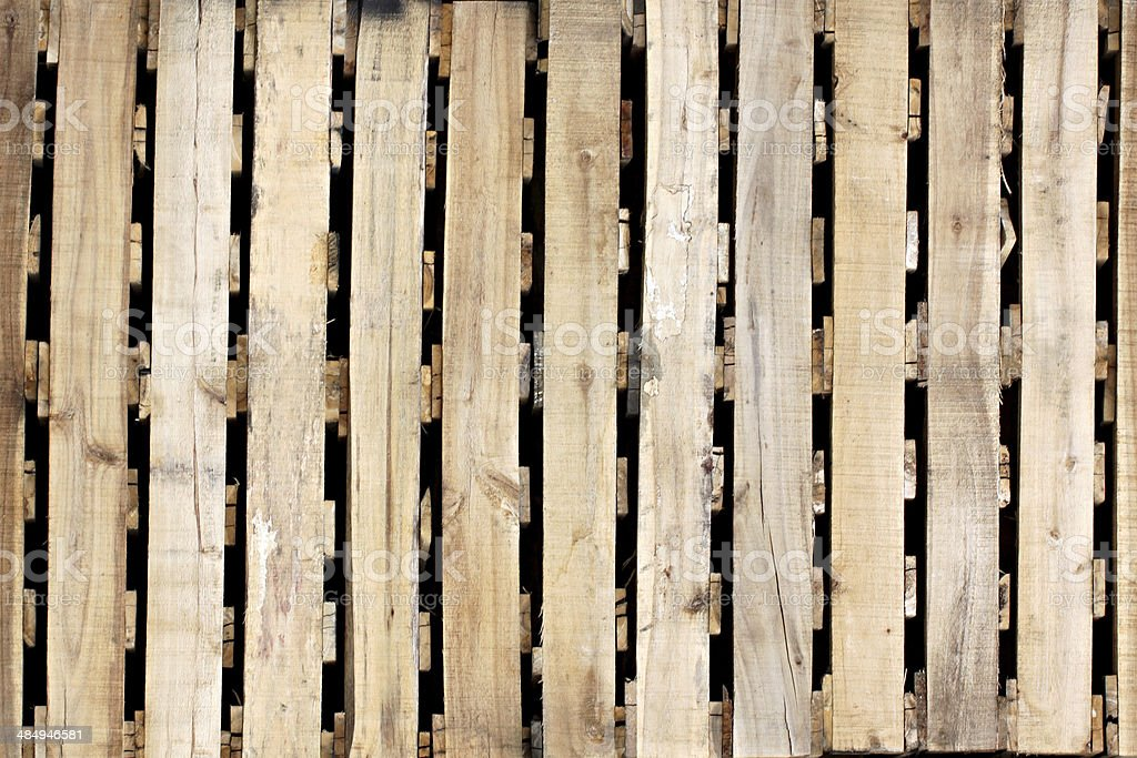 Wooden texture of pallets. stock photo