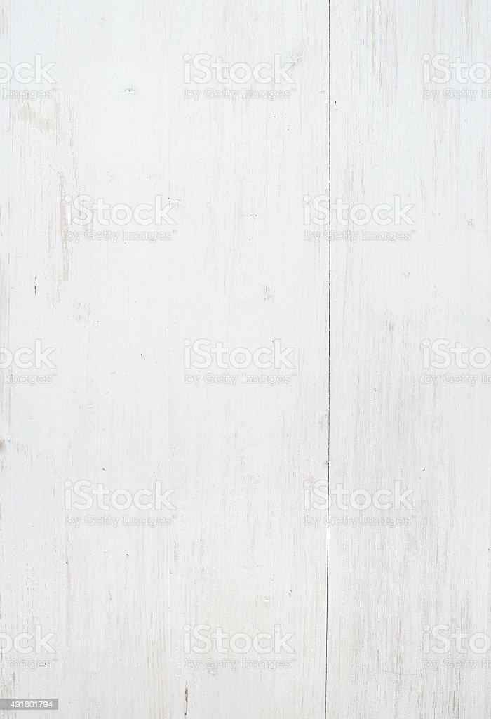 Wooden texture, white wooden background with kitchen napkin, vertical stock photo