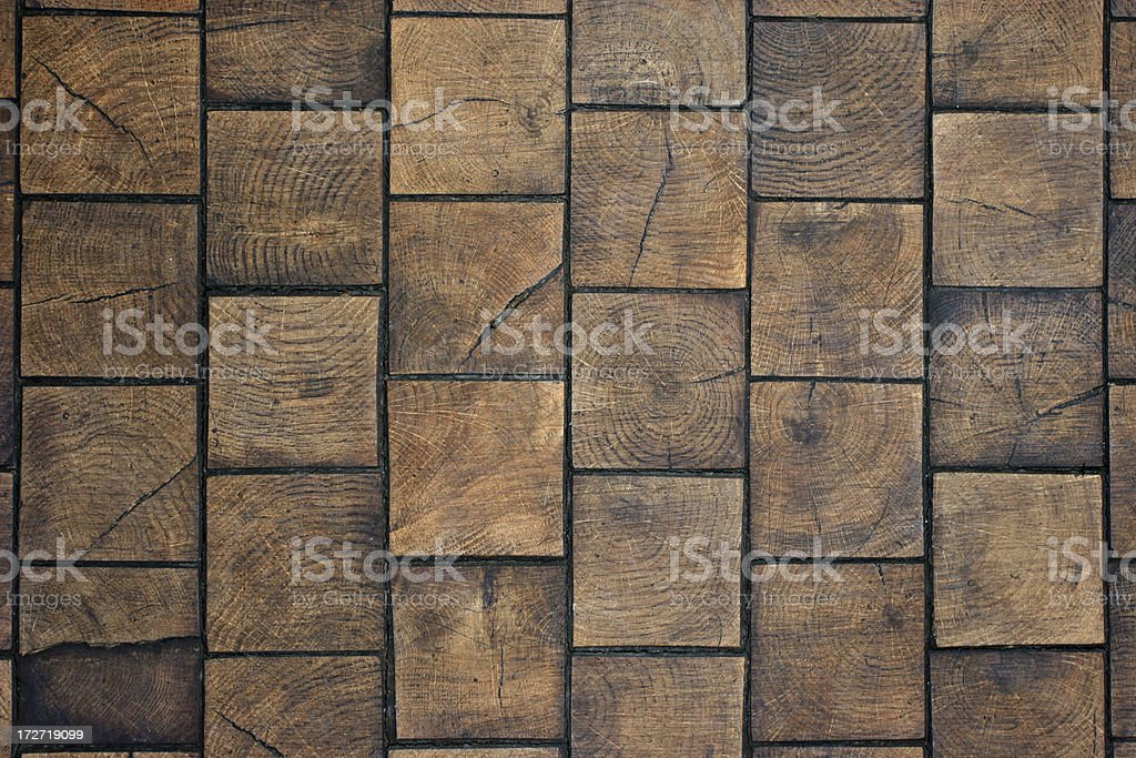 Wooden tiles floor royalty-free stock photo
