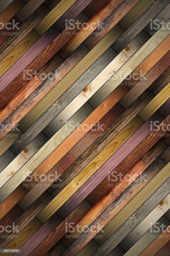 wooden tiles mounted on the floor royalty-free stock photo