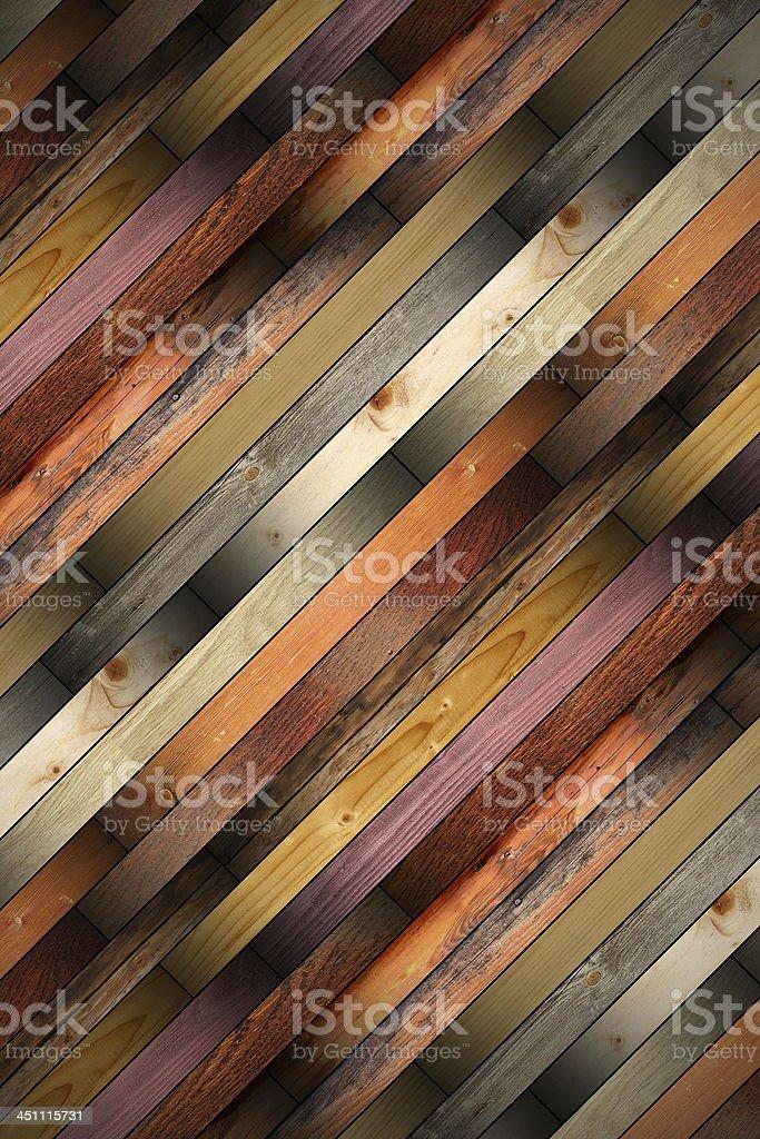 wooden tiles mounted on the floor stock photo