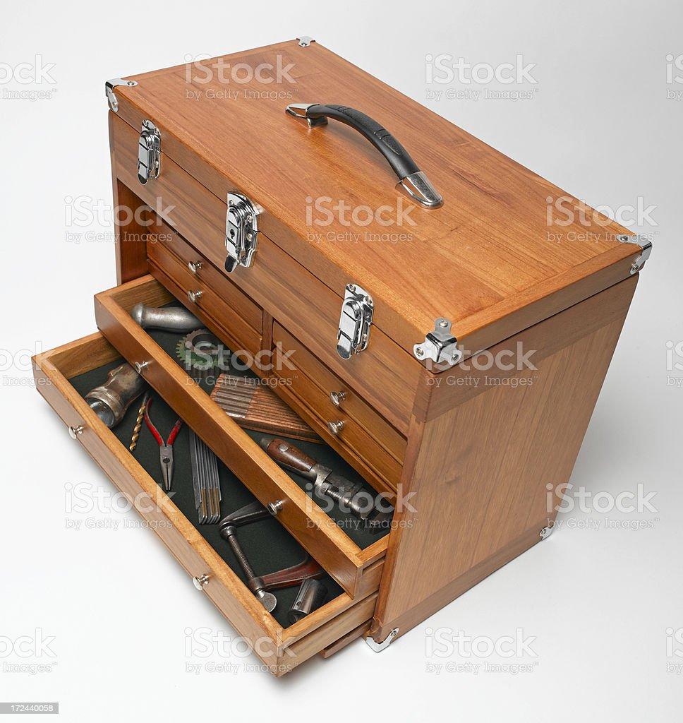 Wooden Tool Box royalty-free stock photo