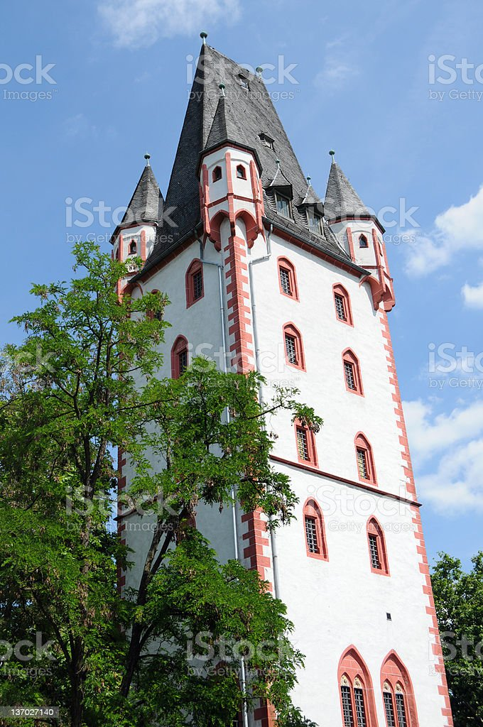 Holzturm in Mainz (Germany) - Wood Tower stock photo