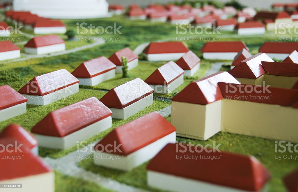 Wooden town royalty-free stock photo