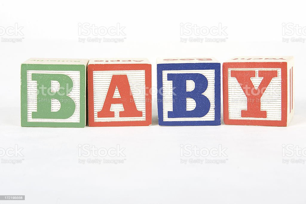 Wooden Toy Blocks – Baby stock photo