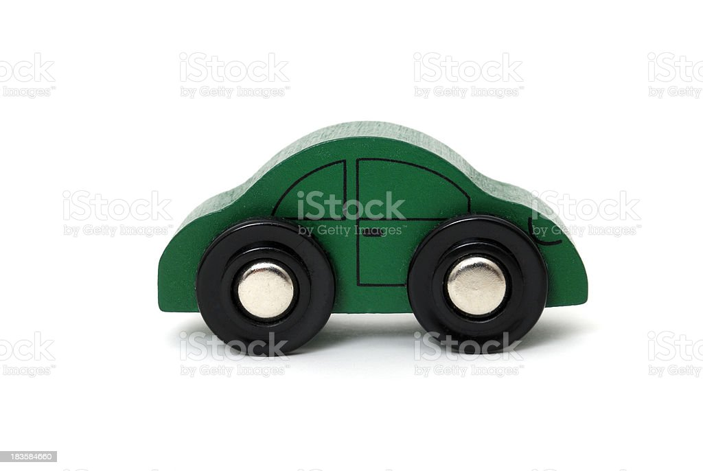 wooden toy car stock photo