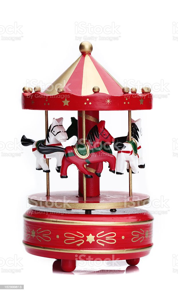 Wooden Toy Carousel stock photo