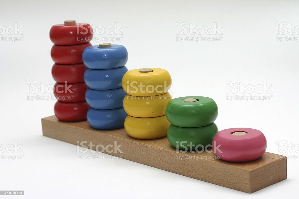 Wooden toy for babies royalty-free stock photo