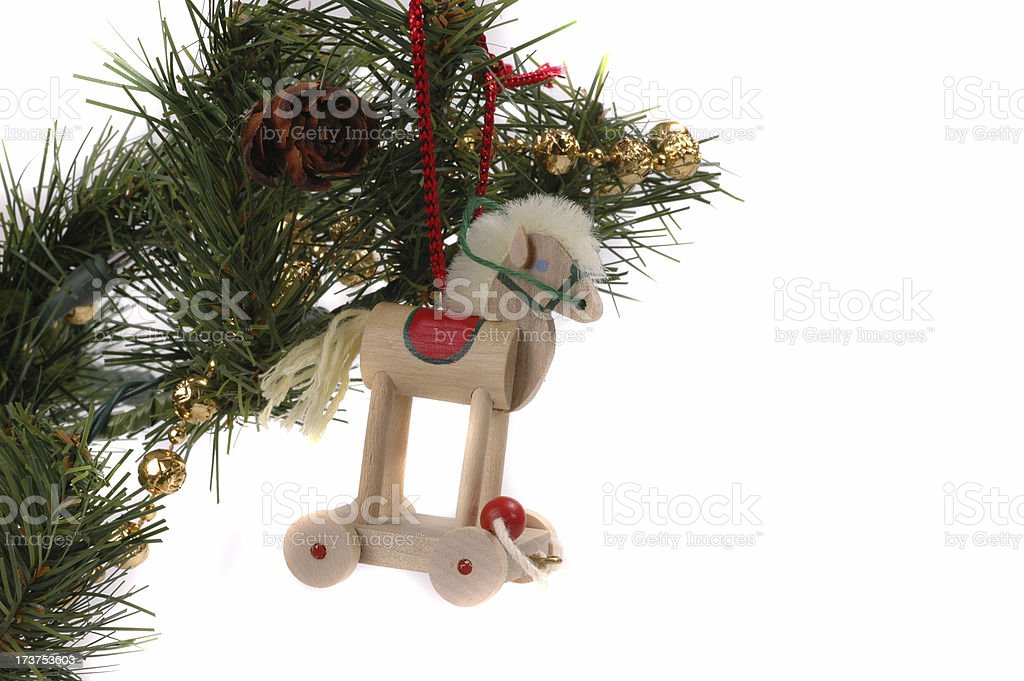Wooden Toy Horse Ornament royalty-free stock photo