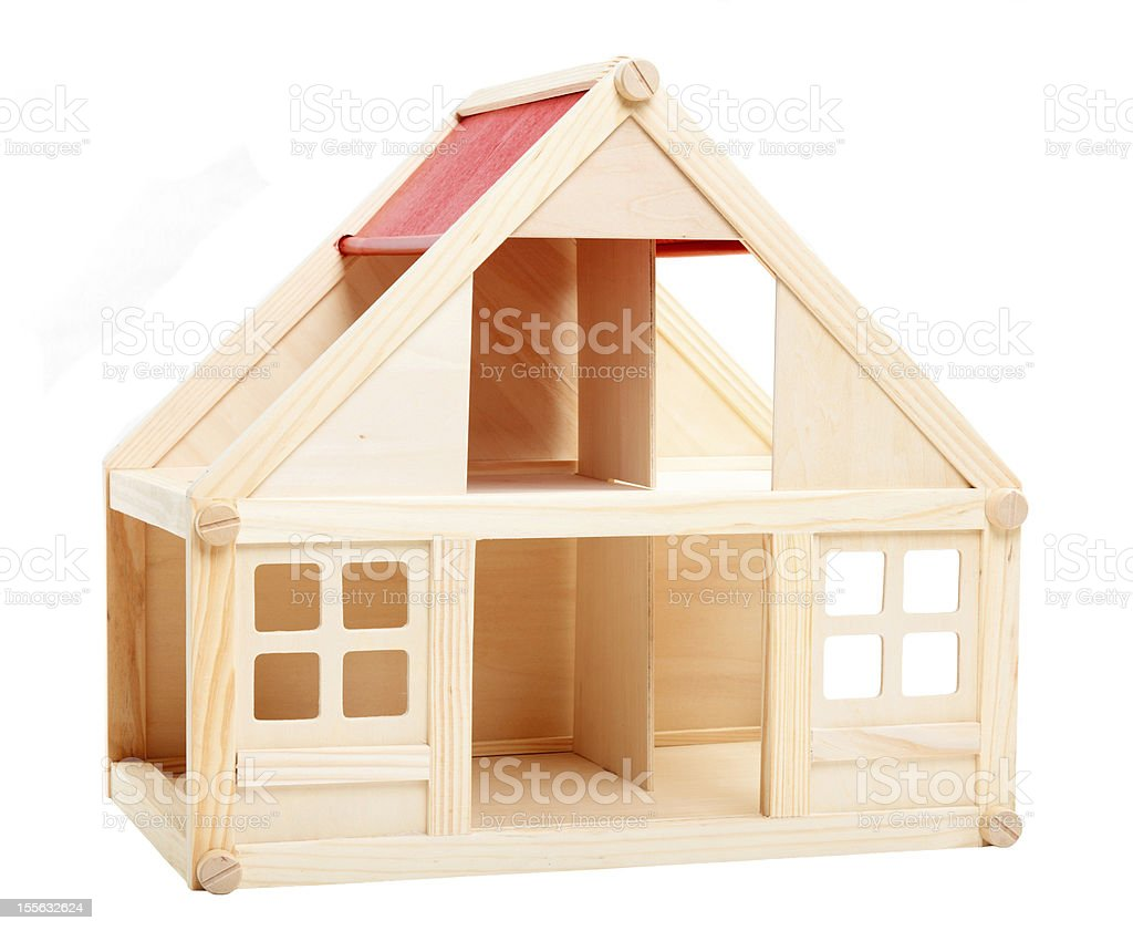 Wooden toy house royalty-free stock photo