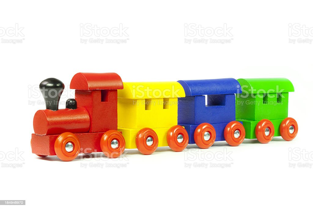 Wooden Toy Train royalty-free stock photo