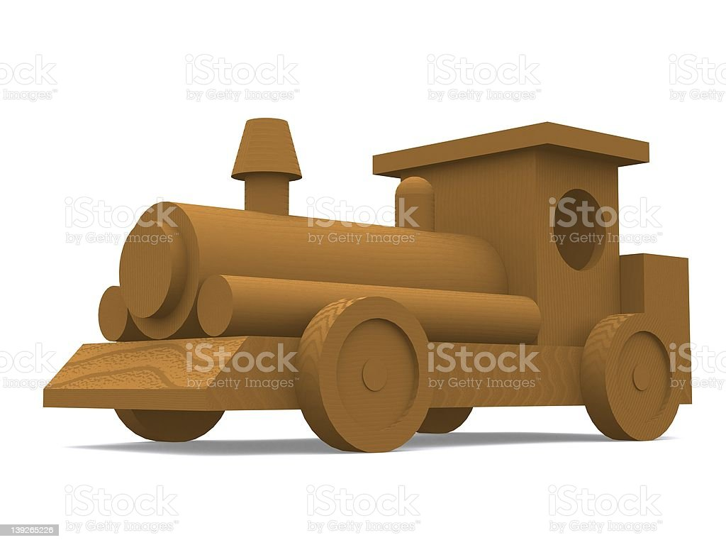 Wooden Train Engine royalty-free stock photo