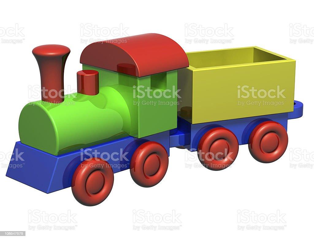 Wooden Train royalty-free stock photo
