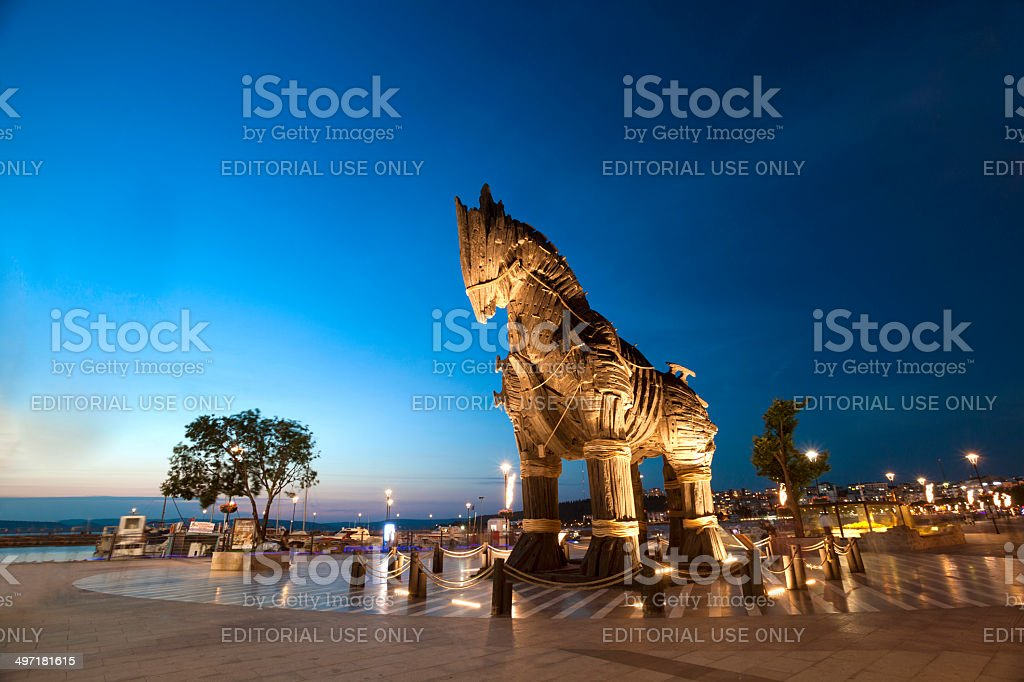 Wooden Trojan Horse stock photo