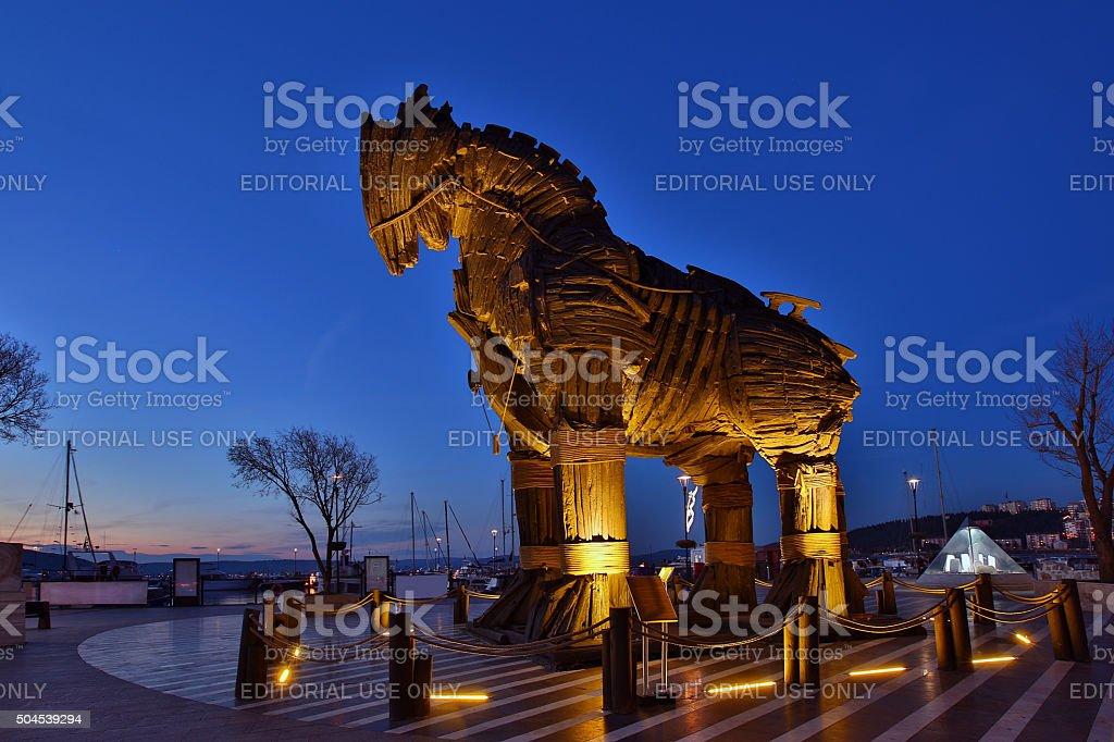 Wooden Trojan Horse stock photo