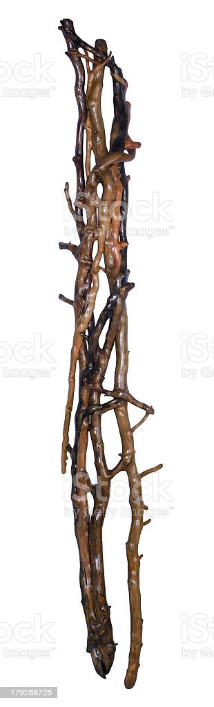 wooden twig connection royalty-free stock photo