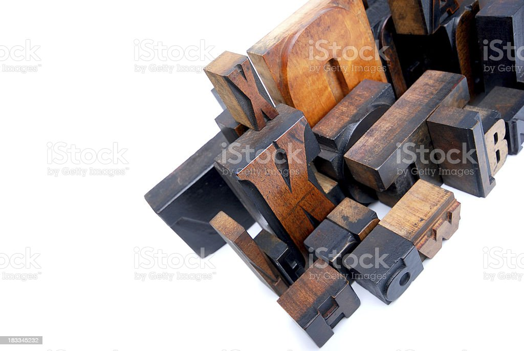 wooden typography royalty-free stock photo