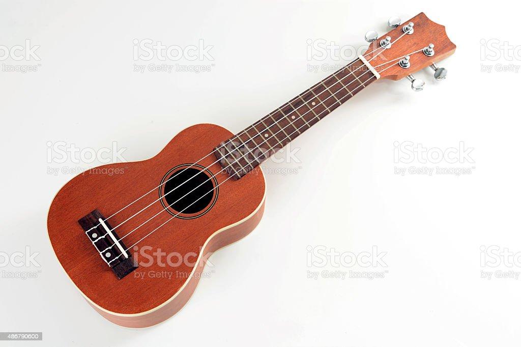 Wooden ukulele stock photo