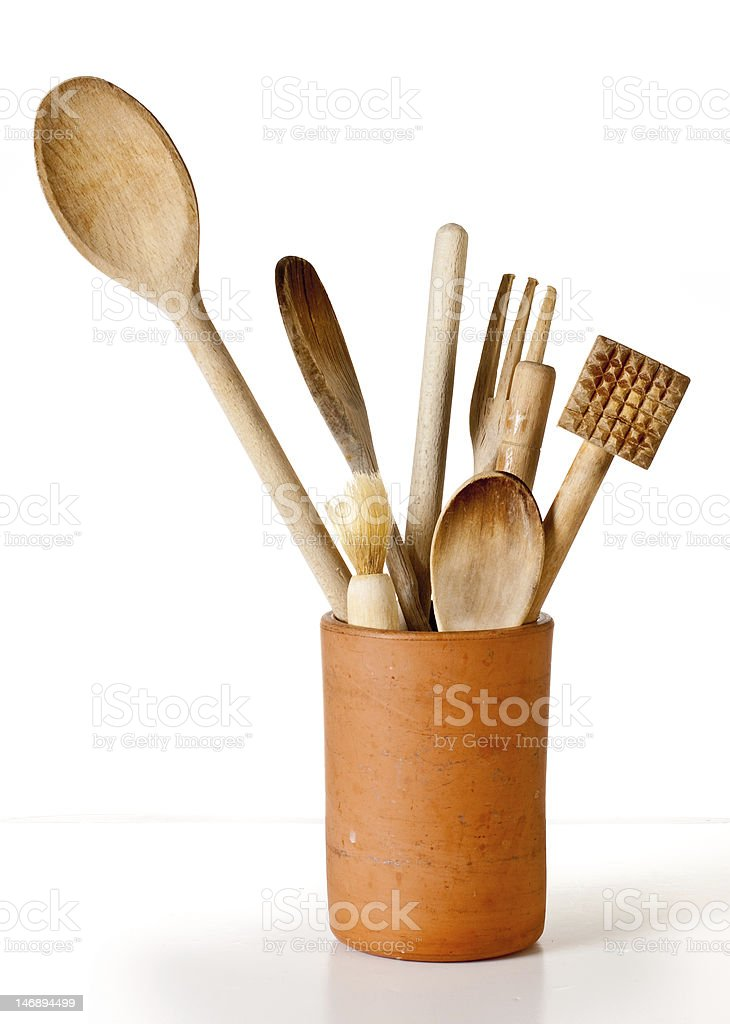 Wooden Utensils royalty-free stock photo