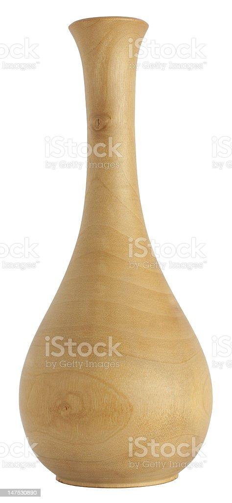 Wooden vase royalty-free stock photo
