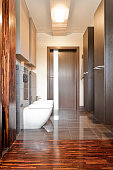 Wooden villa bathroom