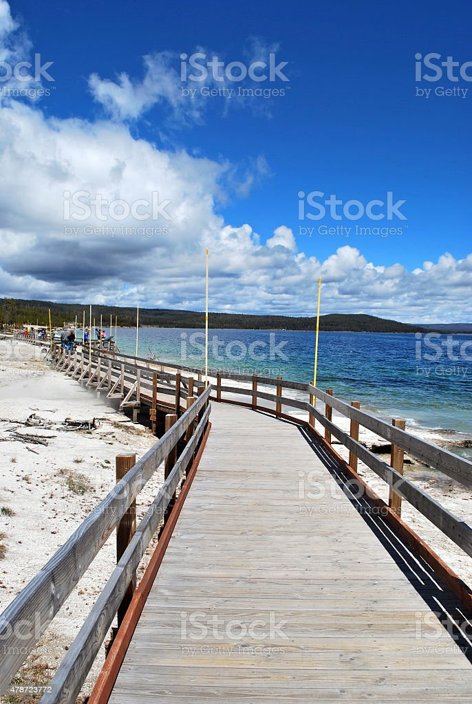 Wooden Walk by the Lake royalty-free stock photo
