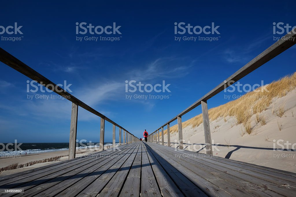 Wooden Walking Path - Sylt ( Germany ) stock photo