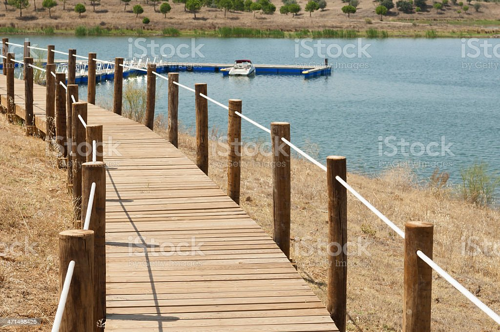 Wooden walkway royalty-free stock photo